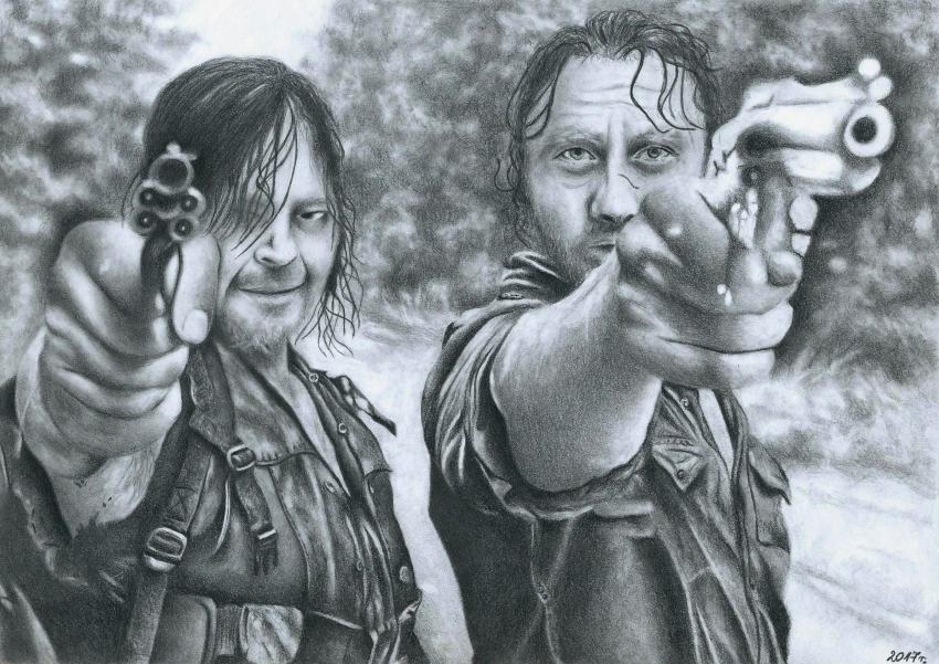Andrew Lincoln, Norman Reedus by preissia